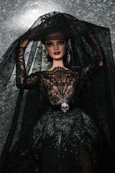 My Repainted Barbie Doll as Vampire Bride. | Flickr - Photo Sharing!