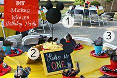 mickey mouse birthday party ideas | DIY Mickey Mouse Birthday Party