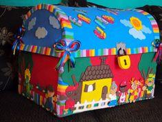 Algumas sugestões de cenários que podem ser utilizados para contar histórias. Não são de minha autoria, são ideias que retirei da net. ... Music Area Eyfs, Diy For Kids, Crafts For Kids, Baby Room Storage, Montessori Math, School Decorations, Preschool Art, Handmade Felt, Kids Education