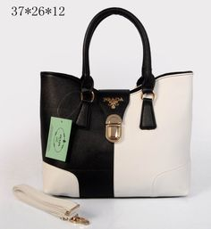 827922523cd Cheap Prada Cylinder Grain Leather Toe Shoulder Bag Black   White Pin It
