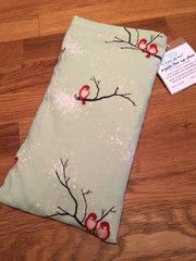 cotton eye pillow or eye mask for savasana or sleeping. made in Ontario, Canada with organic flax seeds and organic lavender. wholesale yoga products