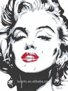 Te negro y blanco del arte pop de marilyn monroe pinturas-imagen-Pintura y Caligrafía-Identificación del producto:1878979496-spanish.alibaba.com