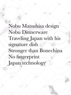 Nobu Dinnerware Design Variation