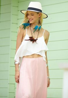 White Asymmetrical Crop Top