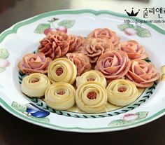 앙금쿠키 (baked bean paste flowers)