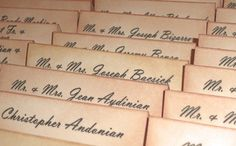 Wedding Place Cards  Eliza  Vintage Style  Set of 50  by amaretto, $72.50