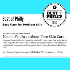 So excited to have gotten Best of Philly- Best Fixer for Problem Skin! Thank you to everyone who chooses About Face Skin Care! #beauty #acne #skincare #laser