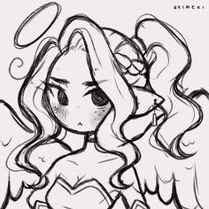 Anime Drawings Sketches, Cool Art Drawings, Cartoon Drawings, Cute Art Styles, Cartoon Art Styles, Arte Sketchbook, Art Inspiration Drawing, Art Poses, Drawing Base