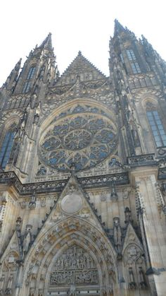 The gothic architecture in Prague