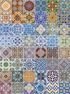 Portuguese Pottery Tiles. They are beautiful and used outside and inside.
