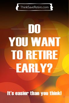 Do YOU want to retire early? You can and it's easier than you might think. This page is an amazing reference full of articles about how to save for an early retirement, figure out what you want out of life, learn about budgeting, and get to know a bunch of people in the Early Retirement Community. AMAZING RESOURCE. Pin for later!