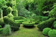 Topiary is the horticultural practice of training live perennial plants. The plants used in topiary are evergreen, mostly woody. Garden Hedges, Topiary Garden, Garden Art, Topiaries, Formal Garden Design, Growing Grass, Gardens Of The World, Formal Gardens, Garden Spaces