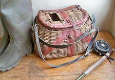 Old wicker fishing creel....so A.W.E.S.O.M.E.!