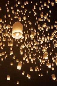 The Loy Krathong lantern release in Thailand was a highlight of my recent travels with Ana! http://alittleadrift.com/2011/11/loy-krathong-yee-peng-thailand/