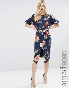ASOS Petite | ASOS PETITE Wiggle Dress in Floral Print