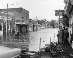 Milton after storm March 1962 State Highway Department Box Folder 4 Delaware Bay, Fenwick Island, Bethany Beach, Sussex County, Rehoboth Beach, Peaceful Places, Back In The Day, Small Towns, Love