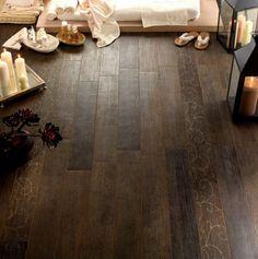 carrelage aspect bois design salle de bains revêtement sol