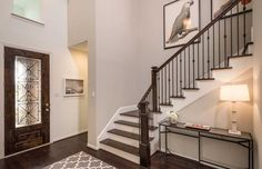 Make a statement from the moment your guests walk in the front door. Meridiana // Iowa Colony, TX // Highland Homes // Plan 207