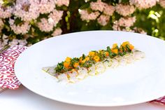 Qooking.ch | Carpaccio de bar Carpaccio, Ceviche, Bar, Grains, Rice, Vegetables, Food, Exotic Fruit, Veggies