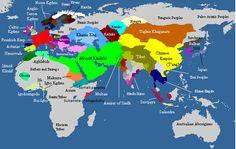 Mapa en el que puede verse la situación geopolítica en el siglo IX, donde puede…
