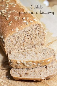 Chleb pszenno-orkiszowy na drożdżach No Bake Snacks, Baking Snacks, Vegan, Banana Bread, Good Food, Food And Drink, Cooking Recipes, Cookies, Breakfast
