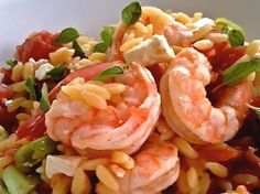 Recipe of the Day: Shrimp with Orzo, Olives & Feta