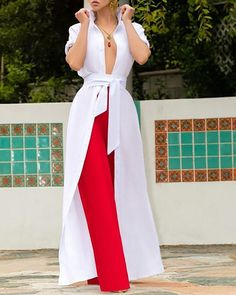 Versatile women Dress or top Vintage Sashes Long Maxi Dress – Michel Be Shop Maxi Shirt Dress, Buy Dress, Shirt Collar Styles, Black And White Shirt, White Belt, Black White, White Dress, Laced Up Shirt, Pattern Fashion