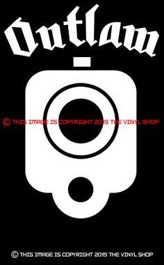 INCH CHROME Pistol BARREL Decal StickerHand GunmmFor The - Custom gun barrel stickersgun decals shotgun barrel sticker shooting ammo decal