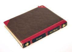 Lederhülle im Look eines alten Buches, die iPad Vintage Buchhülle für iPad 4, iPad 3 und iPad 2