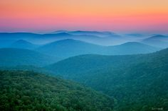 """Sunset from Flatside Pinnacle in the Eastern Ouachita Mountains"" - Paul Caldwell Photography #AETN #BeMore"