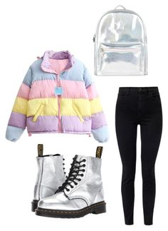 """Untitled #274"" by ninaellie on Polyvore featuring J Brand, Dr. Martens and Accessorize"