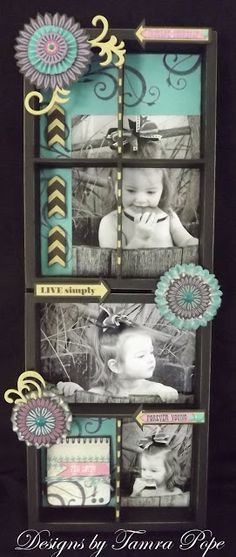 display tray for wall hanging by Tamra Pope using CTMH Laughing Lola paper