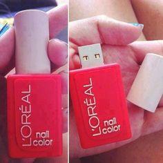 Nail polish flashdrive