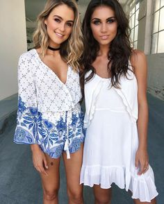 ALL NEW ARRIVALS HAVE LANDED  The 'Blue Waves' playsuit & 'Amy' swing dress both $59.95  www.tigermist.com.au