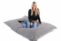 Sitzsack - Indoor Supreme Stripes weiß/schwarz Supreme, Bean Bag Chair, Stripes, Indoor, Furniture, Home Decor, Black, Interior, Decoration Home