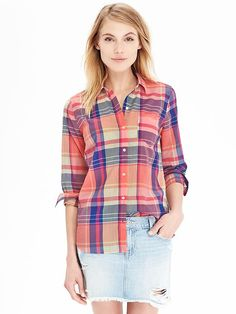 Women's Plaid Shirts Product Image