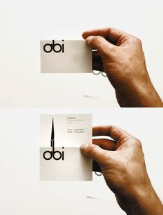 Nice logo work for hairstylist Abi Law. By Yorkshire designer Craig Salter. Business card