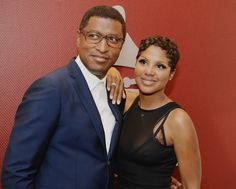 "Together again. Kenny ""Babyface"" Edmonds and Toni Braxton arrive at The Recording Academy's A Conversation With Toni Braxton And Babyface event on Sept. 24 in Los Angeles"