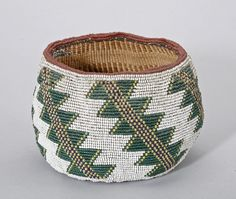 suchasensualdestroyer:    Klamath (Oregon or California), Basket, beads/plant fibers, c. 1900.