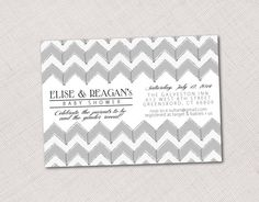 Chevron Invitation for Shower, Party or Event