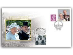 -Celebrating the 90th birthday of Queen Elizabeth II & 95th birthday of the Duke of Edinburgh -Featuring a 1st class stamp from the Queens 90th issue -Royal Mail, London postmark (21st April, 2016) -Doubled with a Golden Wedding anniversary stamp & 1p definitive stamp + Special Windsor postmark (21st April, 2016)