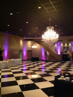 More accent lighting at Keithu0027s Ballroom in Broussard ... & Deluxe monogram with accent lighting at River Oaks (Napoleon Room ...