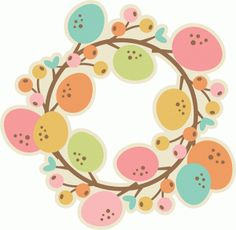 Silhouette Online Store - View Design #57516: easter wreath