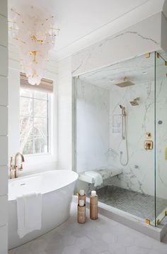 Loire Cascading Chandelier by AERIN / Photography by Margaret Wright Double Bath, Focal Wall, Visual Comfort, Shop Lighting, Clawfoot Bathtub, Interior Styling, Interior Design, New Homes, Chandelier