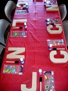 Have each child create their own customized monogram letter from Poca Cosa - Creating your own birthday parties at home has never been easier. These DIY Birthday Party Ideas are awesome! ideas birthday DIY Birthday Party Ideas that Rule! Backyard Party Games, Kids Party Games, Kids Paint Party, Parties Kids, Painting Party Kids, Home Parties, Girls Slumber Parties, Barbie Birthday Party Games, Pajama Party Kids