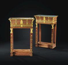 Paire de jardinières en acajou et bronze doré d'époque Empire, estampillée JACOB D / R.MESLEE | lot | Sotheby's