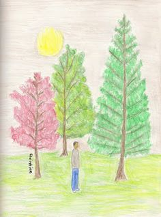 Christine's Blog: Paint Party Friday - Three Trees