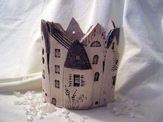 ovales Städtchen 1 von  Conni`s Keramik und ausgefallene Bilder auf DaWanda.com