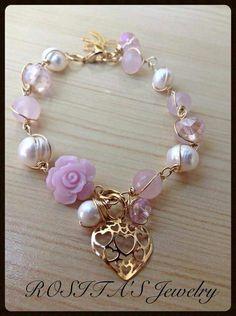 Pulsera rosa linda