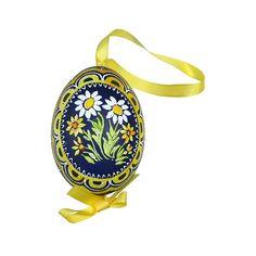 measure pysanky   Home » Mixed Daisies Eastern European Egg Ornament ~ Handmade in ...